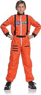 Underwraps Children's Astronaut Costume - Orange, Large (10-12)