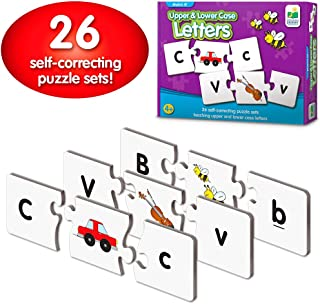 The Learning Journey: Match It! - Upper & Lower Case Letters - Self-Correcting Alphabet Matching Puzzle
