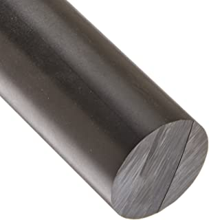 "Black Color Delrin Acetal Plastic Rod 3.50/"" Diameter x 24/"" Length"