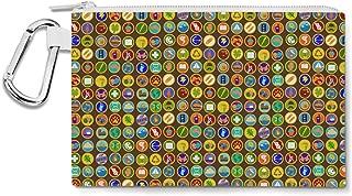Wilderness Explorer Badges Disney Up Inspired Canvas Zip Pouch - Multi Purpose Pencil Case Bag