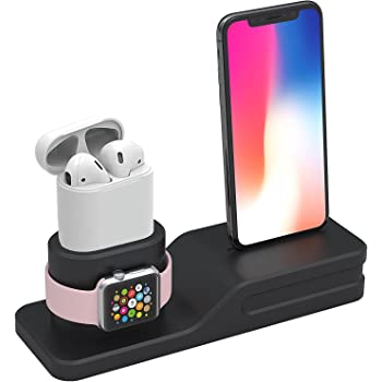 Tempo Apple Watch Stand, 3 in 1 Premium Silicone Charger Dock ...