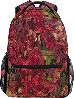 Women/Man Canvas Backpack Special How To Get Red Foliage Zipper College School Bookbag Daypack Travel Rucksack Gym Bag For Youth