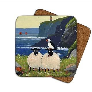 No Puffin Coaster by Thomas Joseph - Funny Sheep by Thomas Joseph