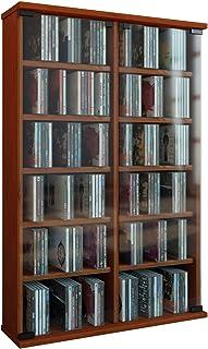 VCM Roma - Torre para CD/DVD para 300 CDs color Cerezo dimensiones 92x60x18 cm