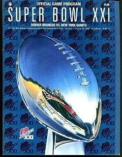 Super Bowl XXI 21 Program 1/25/1987 Broncos (39) Giants (20) NMT Rose Bowl 26292
