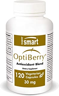 Supersmart - Optiberry ® 30 mg - Berry Extracts Standardized for Anthocyanins - Promote Cardiovascular, Brain & Visual Fun...