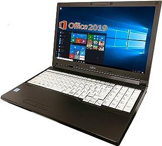 【Amazon.co.jp 限定】富士通 ノートPC A576/新品バッテリー搭載/Core i5-6300U/15.6型/MS Office 2019/Win 10/10キー/HDMI/WIFI/DVD/メモリ:8GB/(整備済み品) (HD...
