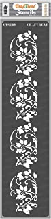 CrafTreat Floral Border Stencils for Painting Craft - Border 3-3X12 Inches - Reusable DIY Stencils for Border Wall Paintin...