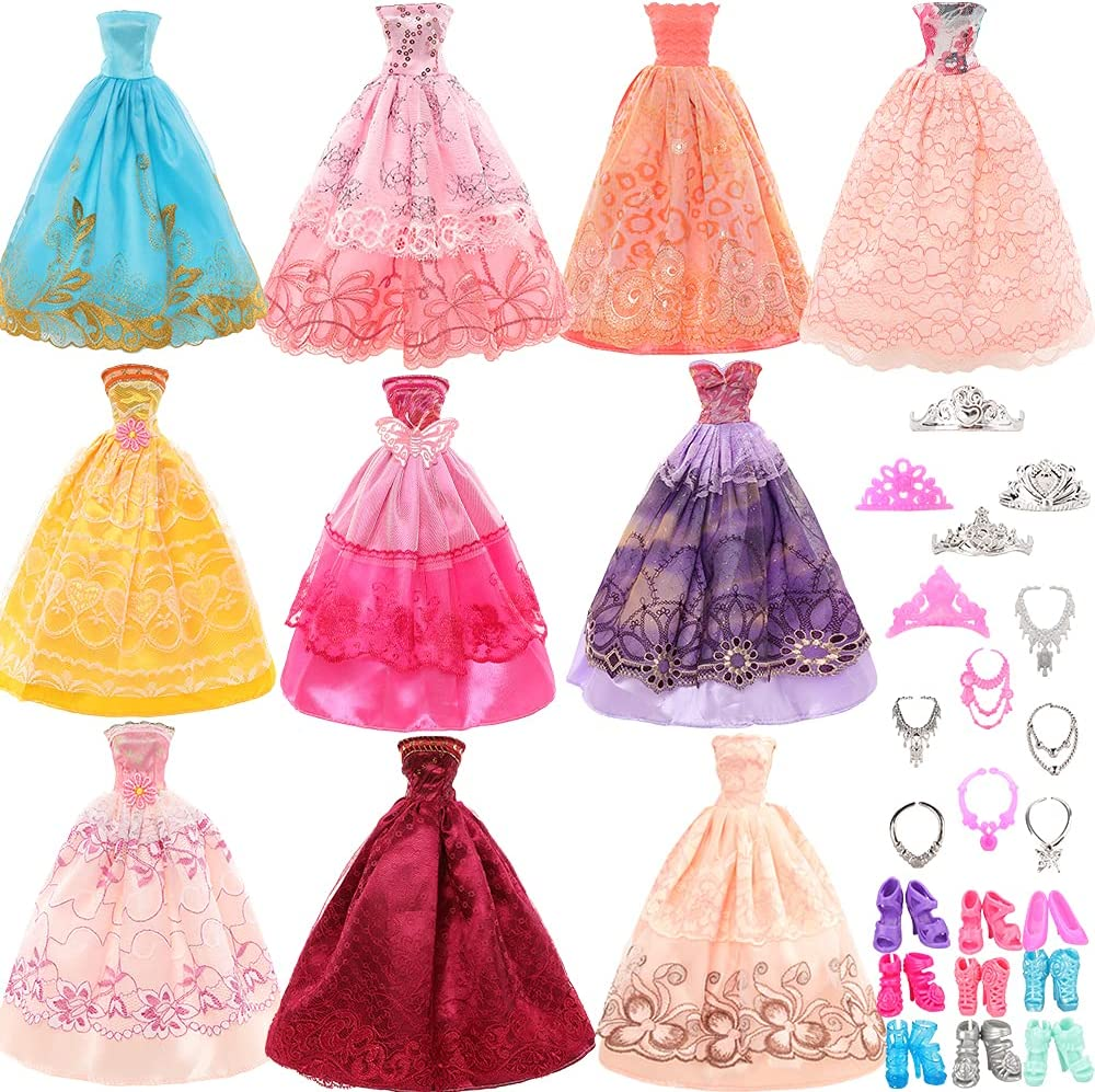 Max 48% OFF Miunana 5 pcs Doll Dresses Accessories 22 Clo Purchase Handmade with