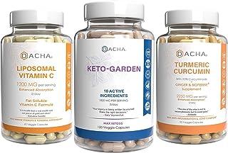 Ultra Weight Loss, Immune Health Bundle – Keto, Liposomal, Turmeric Curcumin, 11 Plus Natural Herbs, Antiinflammatory Boos...