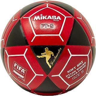 Mikasa FT5 Goal Master Soccer Ball, Black/Red, Size 5