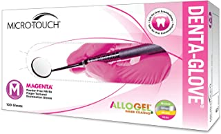 Guantes de examen dental MICRO-TOUCH DENTA-GLOVE MAGENTA Nitrilo ALLOGEL, S