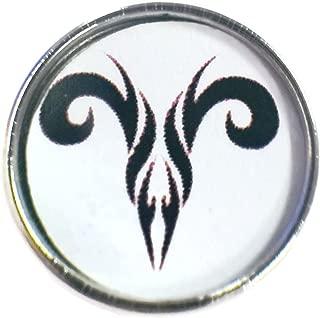 Aries Zodiac Tribal Art Horoscope Sign Symbol 18MM - 20MM Charm for Snap Jewelry