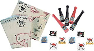 Pirate Party Favors- Pirate Telescopes, Treasure Maps, and Tattoos