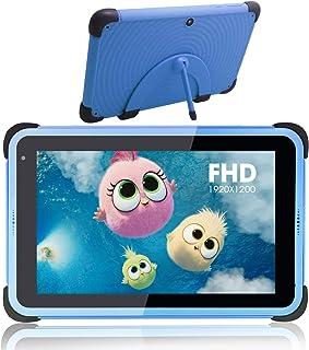 8 tums barnplatta, Android 11 pekplattor för barn med WiFi, IPS HD -skärm, 32 GB ROM 3 GB RAM, barnsäkert fodral med stati...