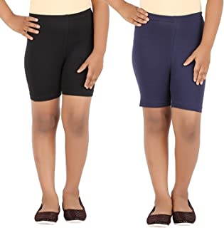 Pixie Women's Cycling/Yoga/Casual (Pack 2), Black and Navy Blue