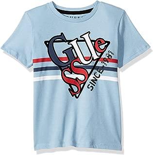 Boys' Short Sleeve Mixed Stripe Triangle Logo T-Shirt