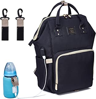 BabyMemory Diaper Bag Multi-functional Mommy Backpack Waterproof Maternity Travel Nappy Bags with USB Charging Port for Baby Care, Fashion, Durable and Stylish