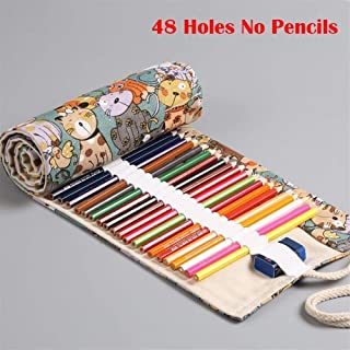 YWSCXMY-AU 12/24/36/48/72 Volume Pencil Case Canvas Pen Bag Cute Big Pencil Case Stationery Bag (Color : Orange)