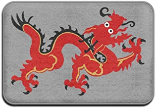 Chinese Red Dragon Personalized Door Mats Outdoor Doormats For Front Door Doormats For Entrance Way