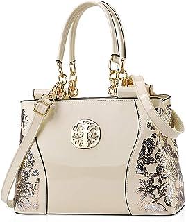 NICOLE & DORIS Lackleder Handtasche Damen Umhängetaschen Elegante Schultertasche Frauen Shopper großer Kapazität Henkeltas...