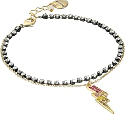 Betsey Johnson - Gold Bolt Anklet