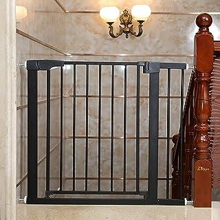 ペットフェンスの赤ちゃんの階段のドアベビーゲート 階段のドア 片手で開閉スムーズ ベビーフェンス 前後90度開閉 扉解放機能 上下ロック ダ ペットドア ペット犬分離ゲート 6ヶ月~24ヶ月対象 子供のガードレール