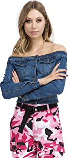 TwiinSisters Women's Basic Classic Casual Destroyed Button Down Denim Jacket - Size Small to 3X