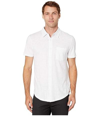 Mod-o-doc Montana Short Sleeve Button Front Shirt (White 1) Men