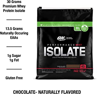 Optimum Nutrition Performance whey Isolate- Naturally Flavored Chocolate, 3.49 Pound
