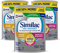 Similac Pro-Advance Non-GMO Infant Formula with Iron, with 2'-FL HMO, for Immune Support, Baby Formula, Powder, 36 Oz, Pac...