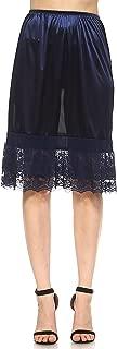 Melody Long Double lace Satin Half Slip Skirt Extender Underskirt Plus Size- 24