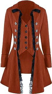 Women's Gothic Steampunk Jacket Corset Coat Victorian Tailcoat Halloween Costume