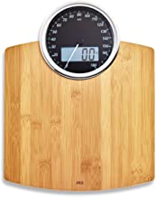 ADE BE1719 Luna Digital Bathroom Scale, Dual Indicator : Mechanical and Digital. Precise up to 180kg. Surface Made of Temp...