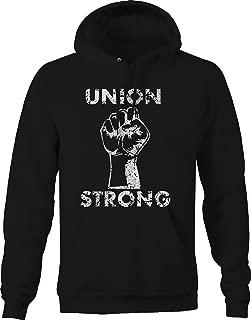OS Gear Distressed - Union Strong - Labor Power Fist UAW Trades Sweatshirt