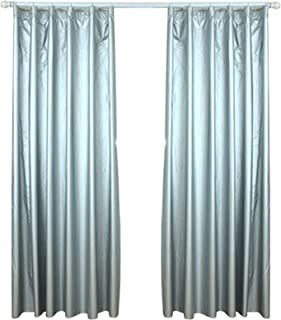 lieomo 1 Pair Solar Reflective Coated, Blackout Thermal Curtain Lining,Includes 40 Curtain Hooks (66.9