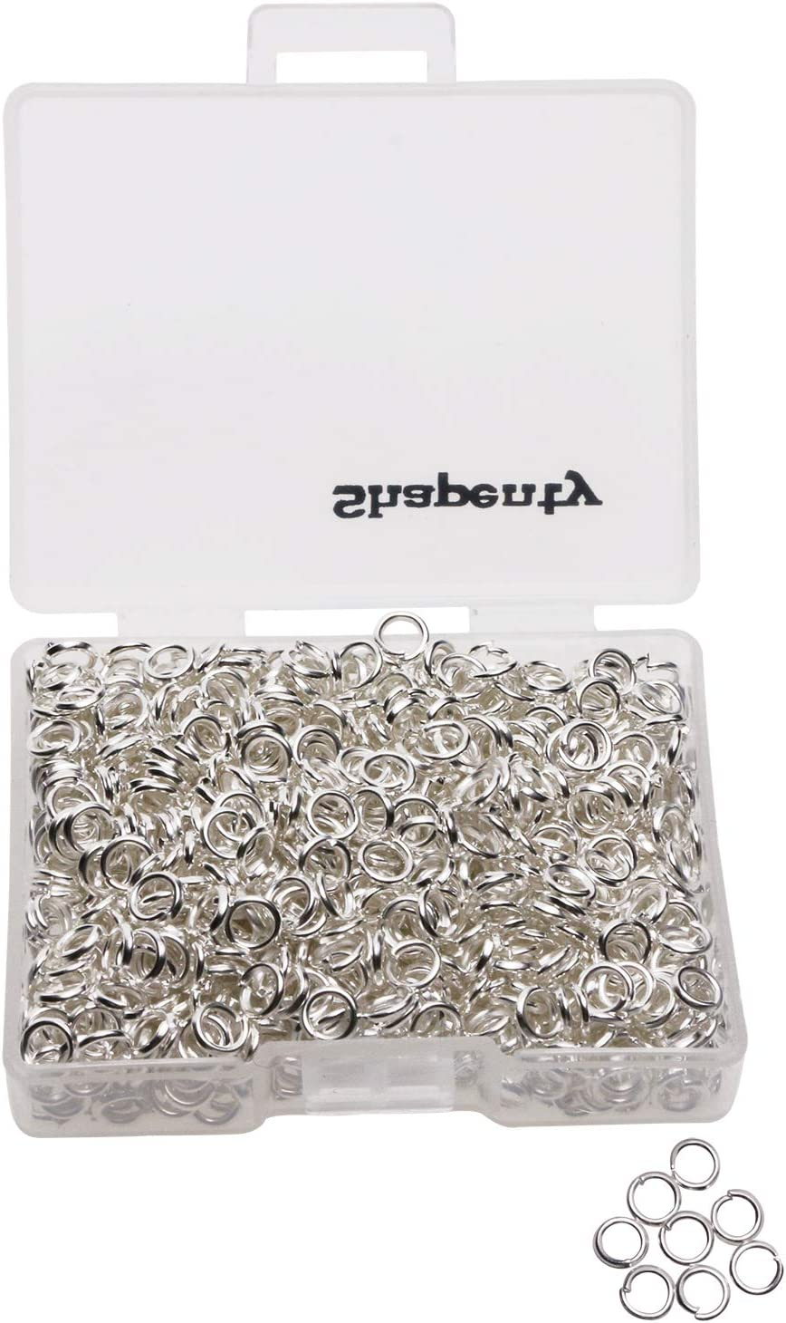 Shapenty 1000PCS Silver Plated Iron Jump Open B Max 71% OFF Connectors Rings latest