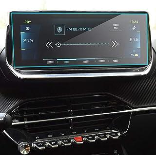 HAZYJT Verre Trempé De Navigation GPS Compatible avec P-eugeot 2008 / E-2008 10 Pouces 2020