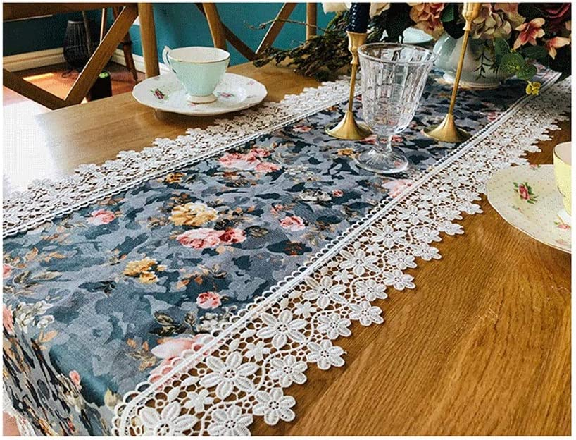 SHENGLI Table Runner Cover Towel Max 68% OFF Lace TV Size Industry No. 1 Pastoral Cabinet