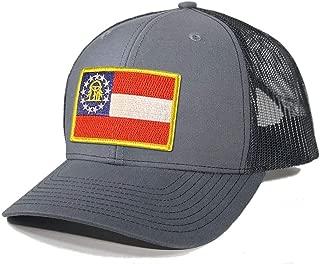 Homeland Tees Men's Georgia Flag Patch Trucker Hat