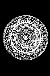 Rounded Doodle Art Flower Black And White Painting Mandala Art | Handmade | Modern Art Wooden Frame | Pen Sketch Drawing |...