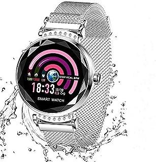 Wysgvazgv Fitness Tracker para mujer H2 reloj Fitness Activity Tracker pulsómetro de muñeca impermeable IP67 Smartwatch podómetro contador calorías para Samsung Huawei iOS Android, plateado