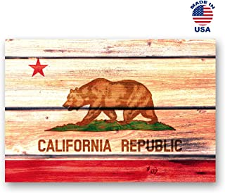 CALIFORNIA FLAG postcard set of 20 identical postcards. CA state flag post cards. Made in USA.