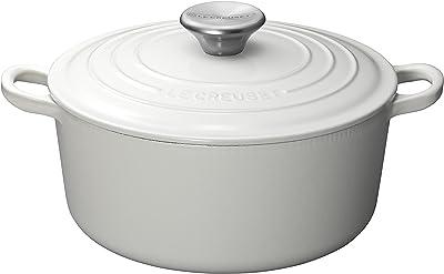 ル・クルーゼ(Le Creuset) 鋳物 ホーロー 鍋 ココット・ロンド 24 cm ホワイト ガス IH オーブン 対応 【日本正規販売品】