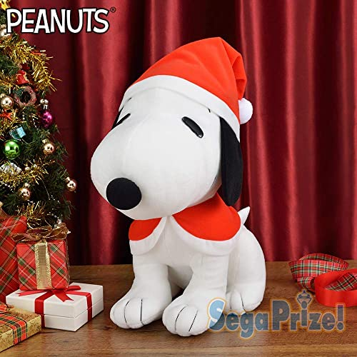 SEGA SNOOPY mega jumbo Christmas Cape stuffed plush 35cm Kawaii japan limited