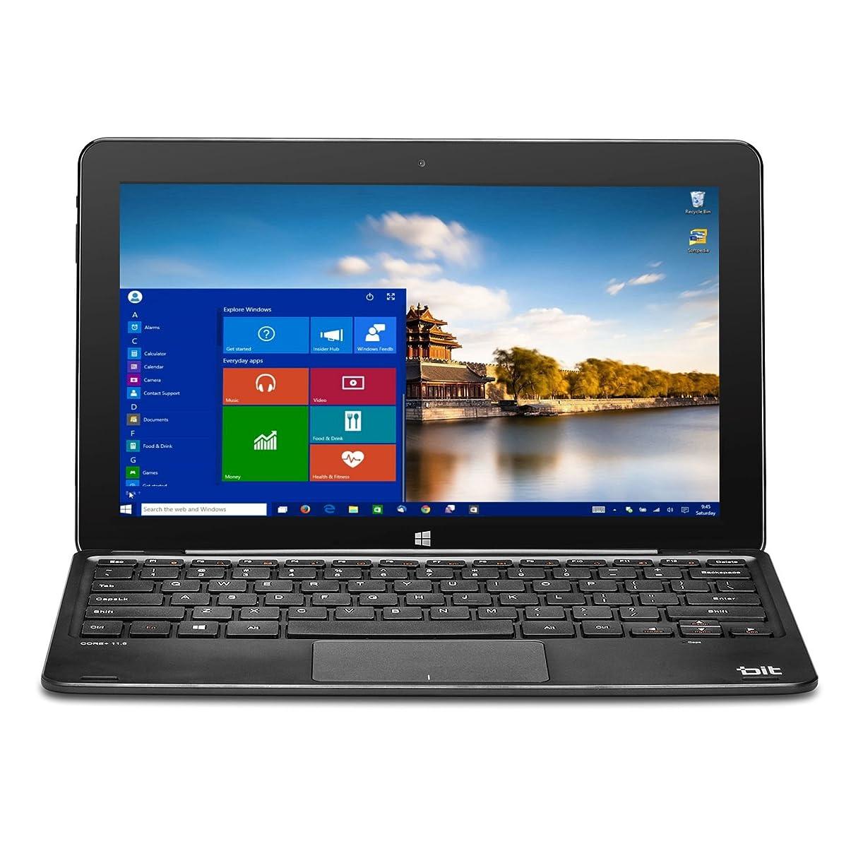 罰する柔らかいブランドBIT W11046APB 11.6 Z8300 64G 4G abgn 2-In-1 Laptop/Tablet, Black by BIT