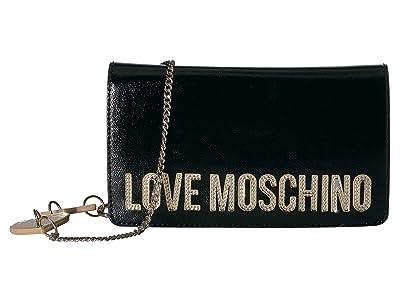 LOVE Moschino Square Logo Belt Bag (Nero) Handbags