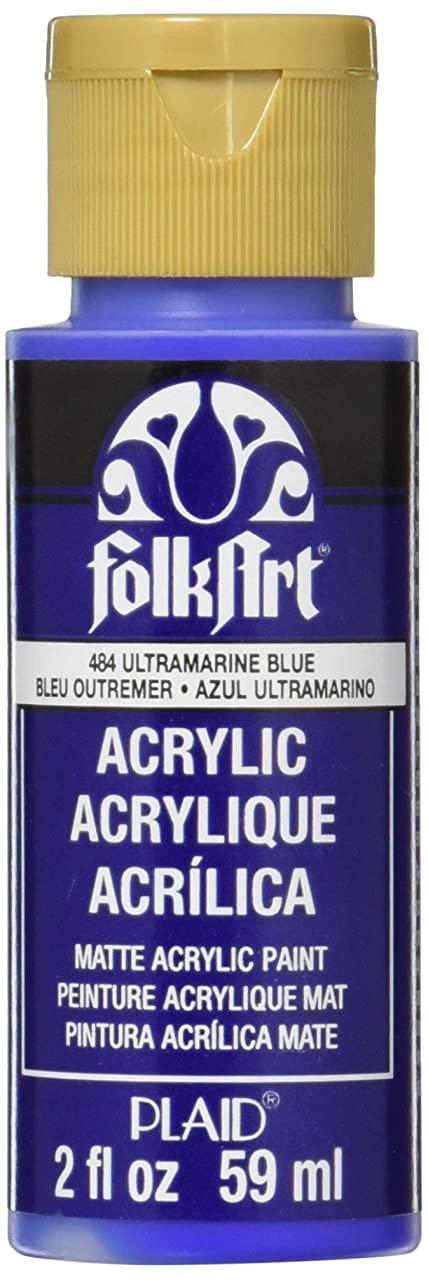 FolkArt Acrylic Paint in Assorted Colors (2 oz), 484, Brilliant Ultramarine