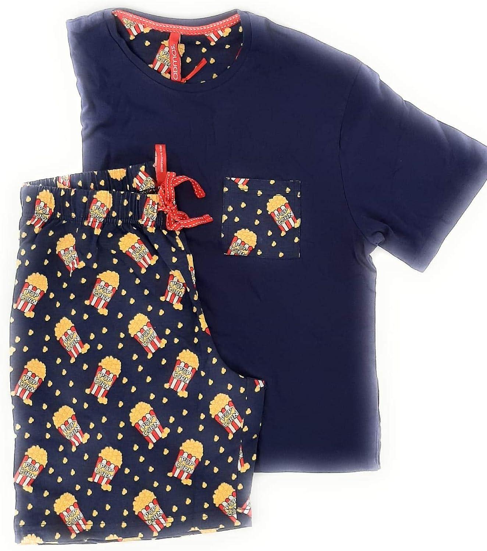 ADMAS - Pijama Chico Pop Corn Hombre Color: Marino Talla ...