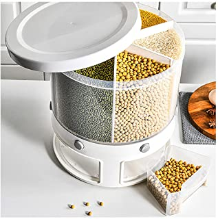 10kg Home Restauration Stockage Riz Seau de riz Cuisine Grènes en plastique Boîte de rangement à l'épreuve des insectes Sc...
